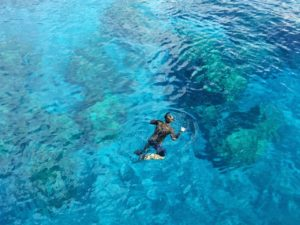 mbemba snorkling
