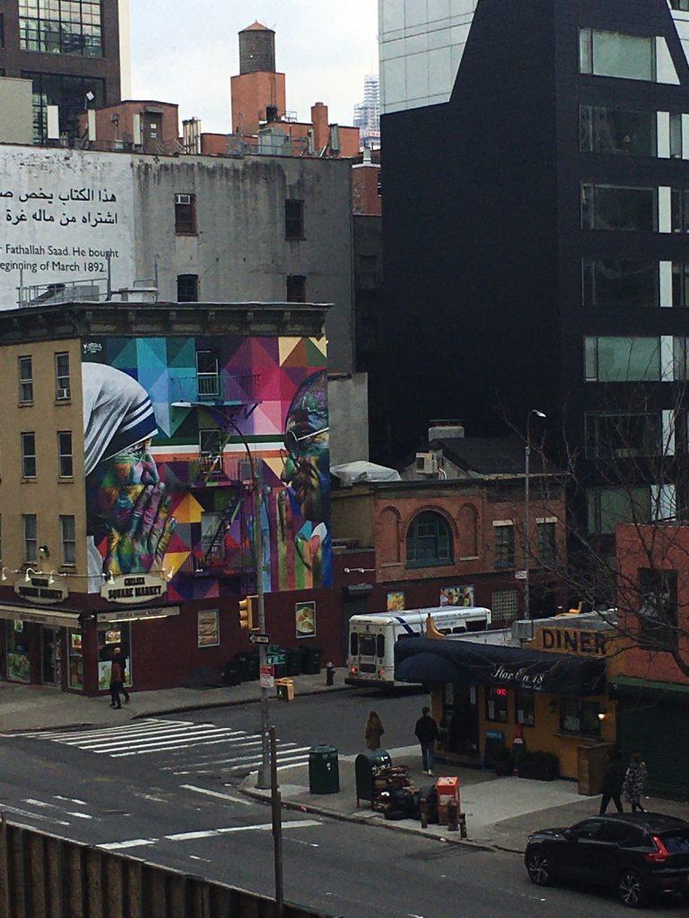 Et gadebillede af New York taget fra High Line